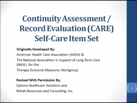CARE Item Set Self-Care - YouTube