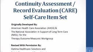 CARE Item Set: Self-Care