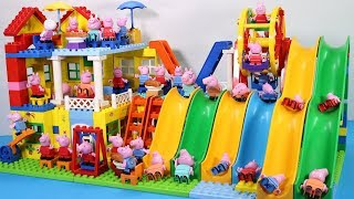 Peppa Pig Lego House Creations Toys - Lego House With Water Slide Toys For Kids #8