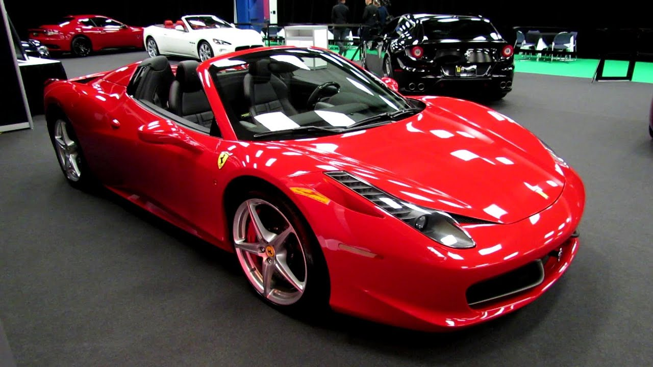 2013 Ferrari 458 Italia Spider   Exterior And Interior Walkaround   2013  Salon De Lu0027Auto De Montreal   YouTube