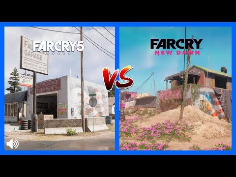 Far Cry New Dawn vs Far Cry 5 Map Comparison Side by Side thumbnail