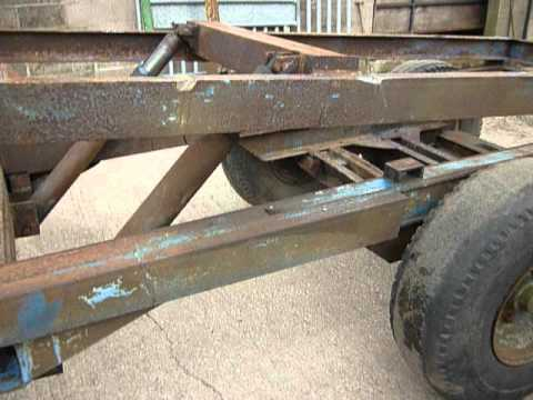 Tipping Trailer Chassis Twin Axle Twin Ram MOV YouTube