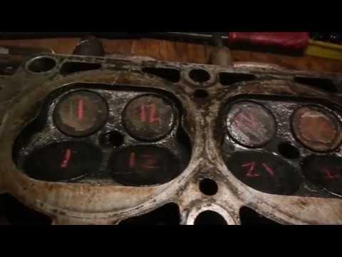 капремонт головки змз 409, замена маслосъемных колпачков, притирка клапанов
