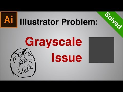 How to SOLVE Illustrator Grayscale Color Problem   Illustrator Tutorial