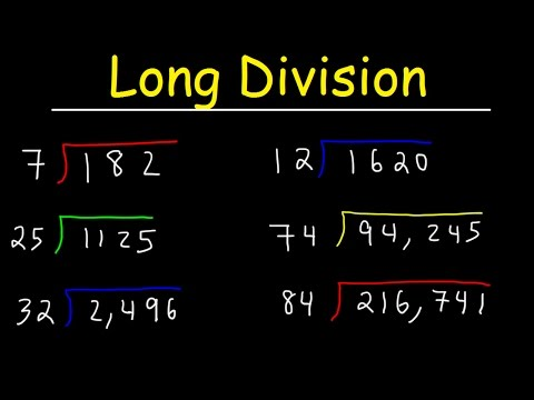 Long Division Made Easy - Examples With Large Numbers