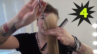 Классическая стрижка каскад на длинные волосы.