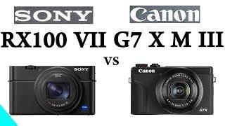 Sony RX100 VII vs Canon G7 X Mark III