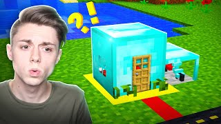 Building a Minecraft House INSIDE a DIAMOND BLOCK!?