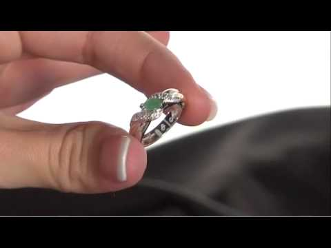 Emerald Embrace Sterling Silver Ring