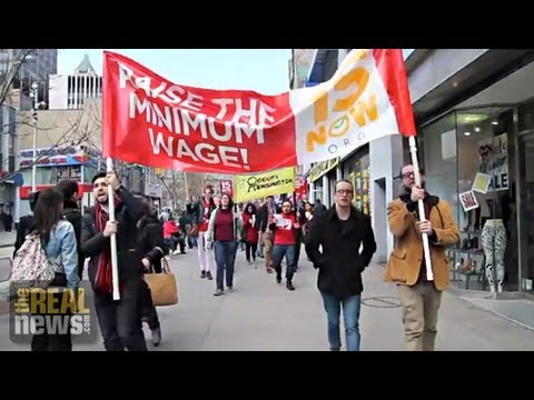 Protesters Hit the Streets of Brooklyn to Demand $15 Minimum Wage