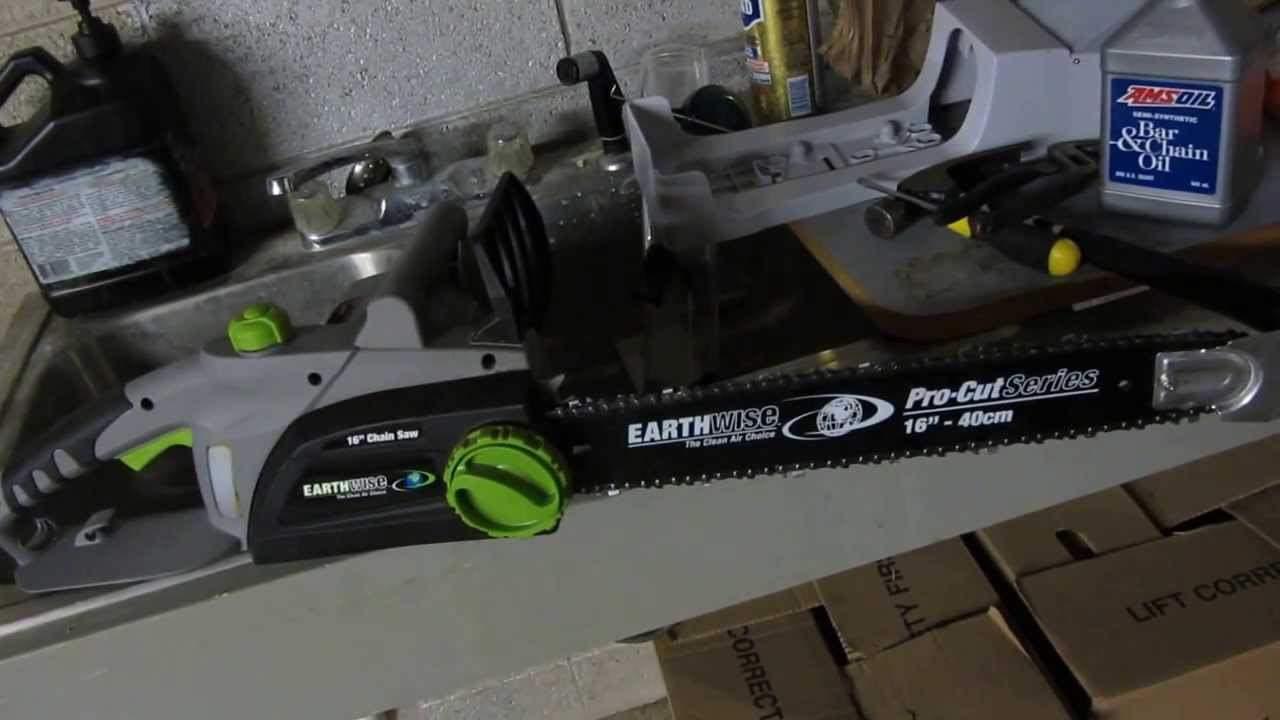 Earthwise cs30016 chainsaw review youtube earthwise cs30016 chainsaw review greentooth
