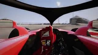 F1 2018 Halo Testing in Abu Dhabi (Assetto Corsa)