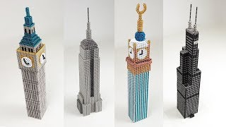 ASMR , All my Skyscrapers out of Magnetic Balls | Magnetic Games