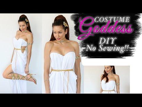 DIY Greek Goddess Costume-EASY NO SEWING!!!!