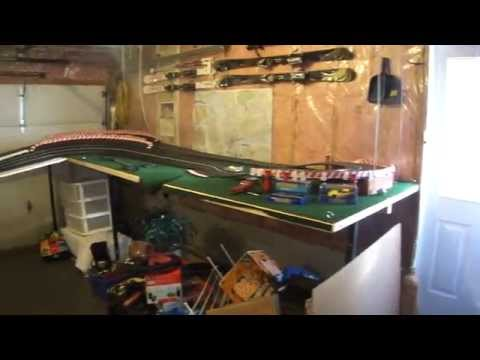 110ft Ninco to Carrera slot car track with high banks 1/32