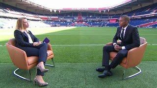 Première interview télé de Mbappé au PSG