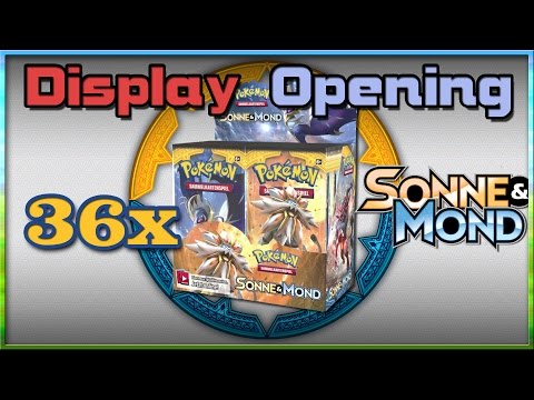 Ganzes Sun & Moon Display - Alle 36 Packs! - Pokémon Booster Opening (Deutsch)