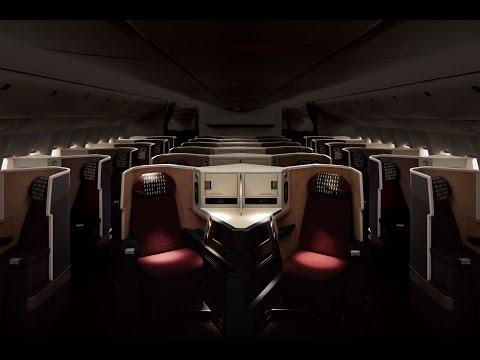 国際線777200ERに新たなビジネスクラス座席を導入