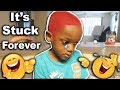 I Dyed Your Hair Red Prank On 4yr Old