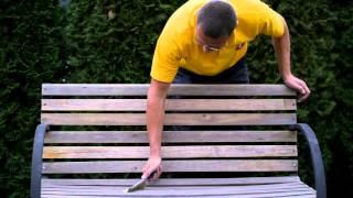 Bondex – Renovace staré lavičky – snadné natírání