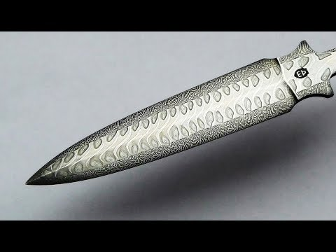 Poetic Damascus Steel 'YouTube button'