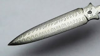 "Poetic Damascus Steel ""YouTube button"""