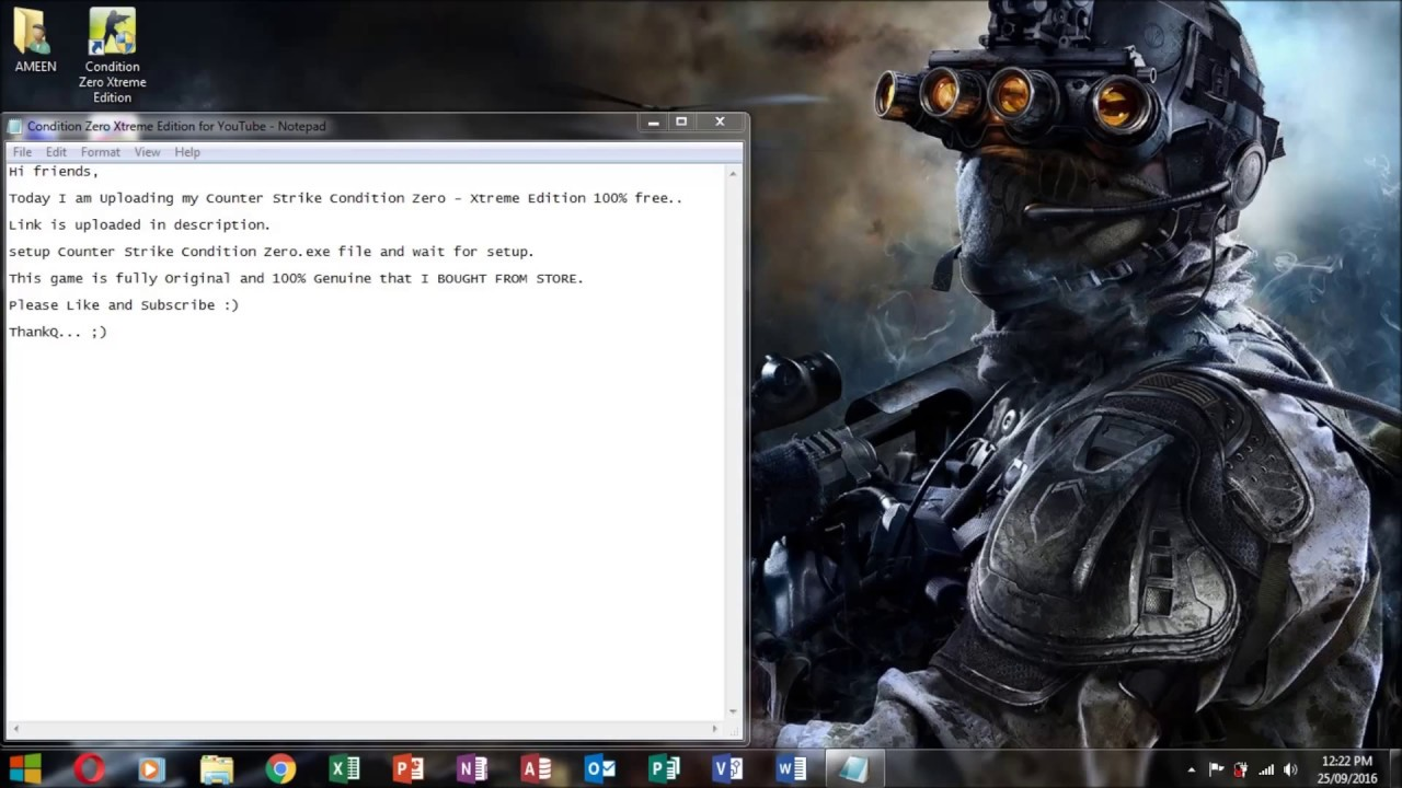 download counter strike condition zero game setup exe