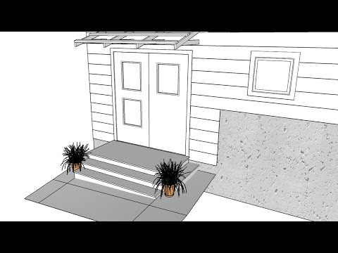 Building A Simple Roof Over A Door - Part 2 Of 2 - SketchUp