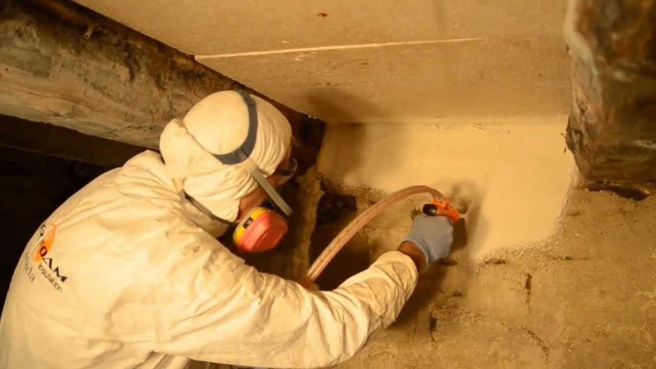 Using spray foam in crawl space or basement youtube using spray foam in crawl space or basement solutioingenieria Images