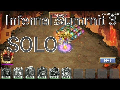 Soloing Infernal Summit 3 L Castle Clash
