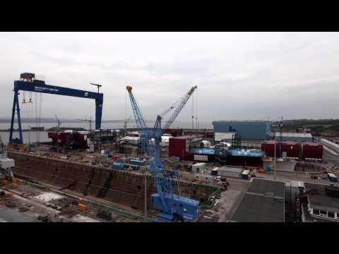HMS Queen Elizabeth full build timelapse