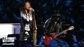 "Download lagu Steven Tyler, Slash, and Train ""Dream On"" at the Howard Stern Birthday Bash (2014)"
