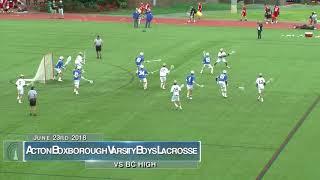 Acton Boxborough Varsity Boys Lacrosse vs BC High 6/23/18