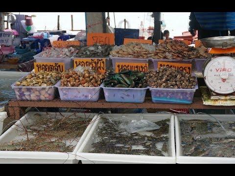 Thailand Phuket Fish Market - Street Food - Amazing Seafood Rawai