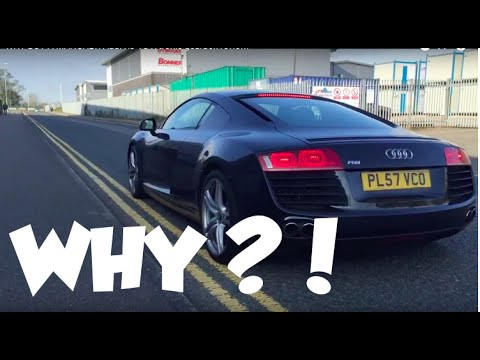 WHY BUY A MANUAL?! Audi R8 V8 R tronic gearbox review and drive by Calvin