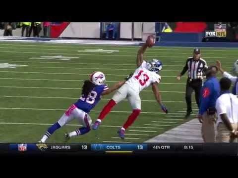 Odell Beckham Jr. Repeats the Amazing One-Handed Catch..Out of Bounds | Giants vs. Bills | NFL