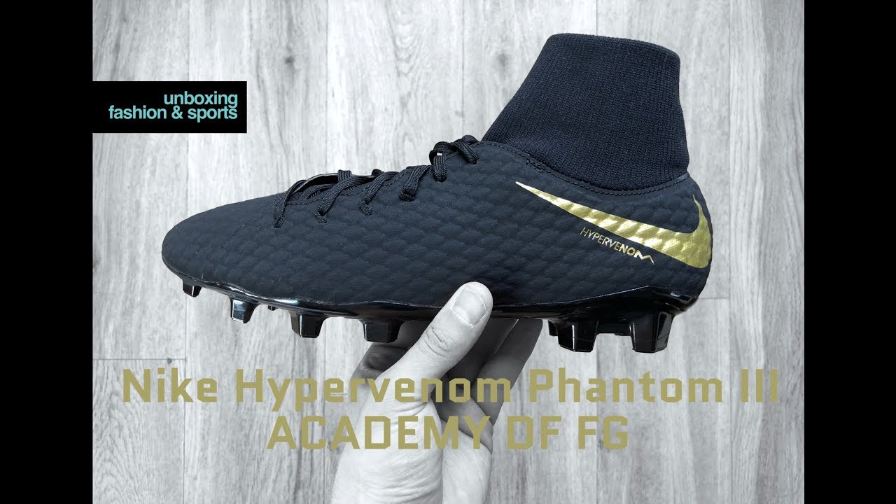 brand new 87ad7 4c583 Nike Hypervenom Phantom III ACADEMY DF FG 'Game of Gold Pack ' | UNBOXING &  ON FEET | football boots
