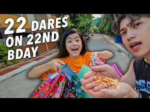 22 EPIC DARES ON 22ND BIRTHDAY!! | Ranz and Niana