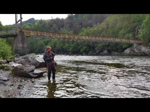 Salmon fishing   River Orkla