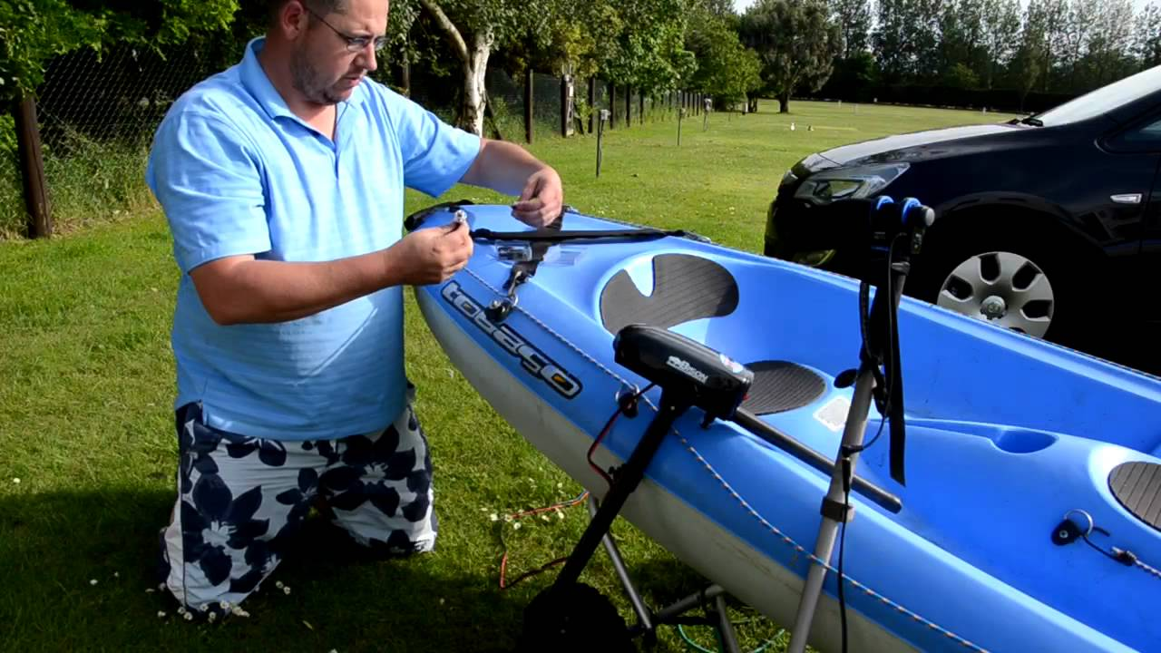 How To Fit An Electric Outboard To A Kayak Bic Tobago