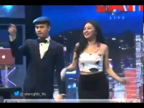 Ariel tatum Goyang Pecut di Late night Show Trans TV