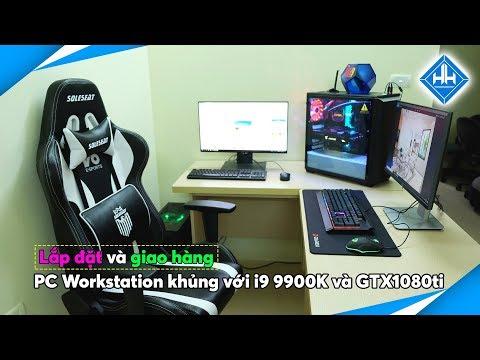 Lắp đặt Và Giao Hàng Bộ PC Workstation Khủng Với I9 9900K Và GTX1080Ti - Phantek P400 Build