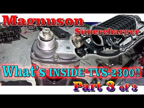 TVS-2300 Magnuson Supercharger Disassembly Part 1 of 3 - YouTube
