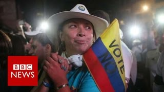 Colombia referendum: Voters reject Farc peace deal - BBC News