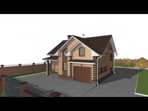 Проект дома с мансардой «Заказной»   C-074-ТП