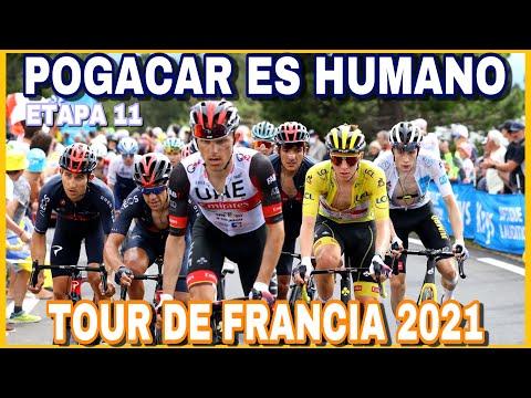 RESUMEN ETAPA 11 ➤ TOUR DE FRANCIA 2021 🇫🇷 Pogacar es HUMANO