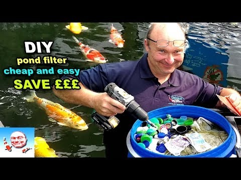 DIY Fish Pond Filter Cheap Easy.