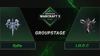 WC3 - SyDe vs. LiiLD.C - Groupstage - DreamHack WarCraft 3 Open: Summer 2021 - Europe