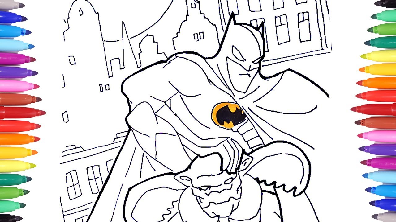 Batman Superhero Coloring Pages for Kids | The Dark Night Batman ...