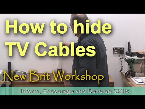 How to hide TV cables in a wall